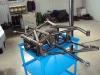 rurowa konstrukcja tylnego zawieszenia - sanki + drążki +  wahacze