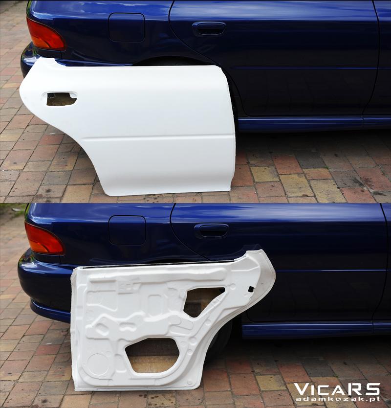Tylne lekkie drzwi z laminatu do Subaru Impreza